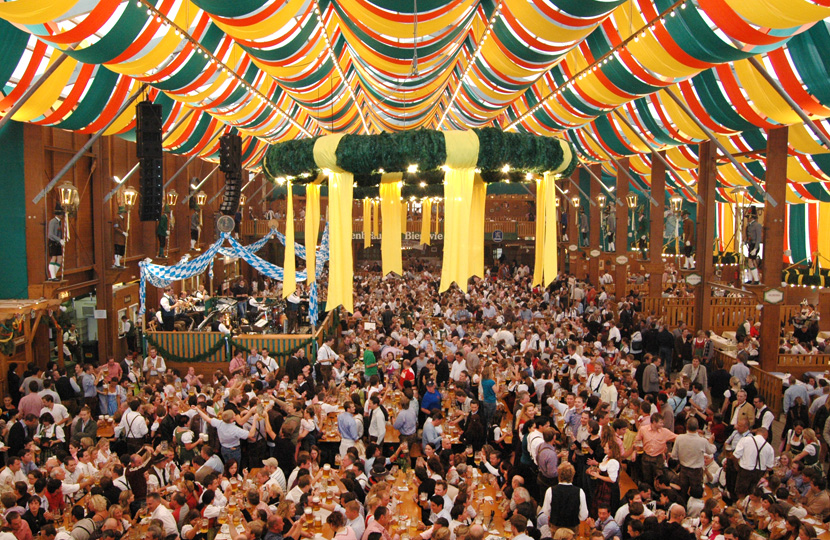 Oktoberfest Reserving Seats In A Beer Tent The Official
